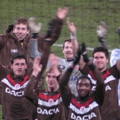 MSV Duisburg - FC St. Pauli 0:2 - die Boys in Brown feiern