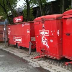 Astra-Bierwagen in Wartestellung