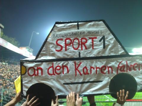 Sport1 Protest Nordkurve St. Pauli