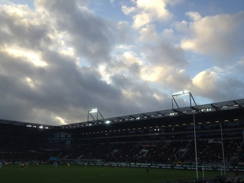 Himmel über der Haupttribüne (gegen Dynamo Dresden)