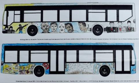 HVV (VHH) weigert sich (Update: nach zahllosen Protesten nicht mehr), Gewinner-Entwurf eines Schülers auf Busse zu malen: zu kritisch, zu politisch? #LampedusaHH