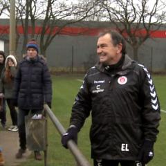 Ewald LIenen Trainingsauftakt FC St. Pauli