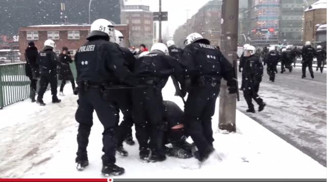 Polizei Gewalt Demo Hamburg Youtube