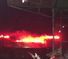 Pyro-Choreo FC St. Pauli Ultra Bunker