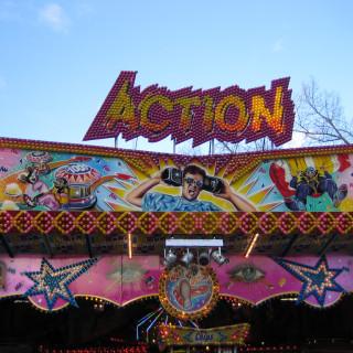 Action auf dem Hamburger DOM