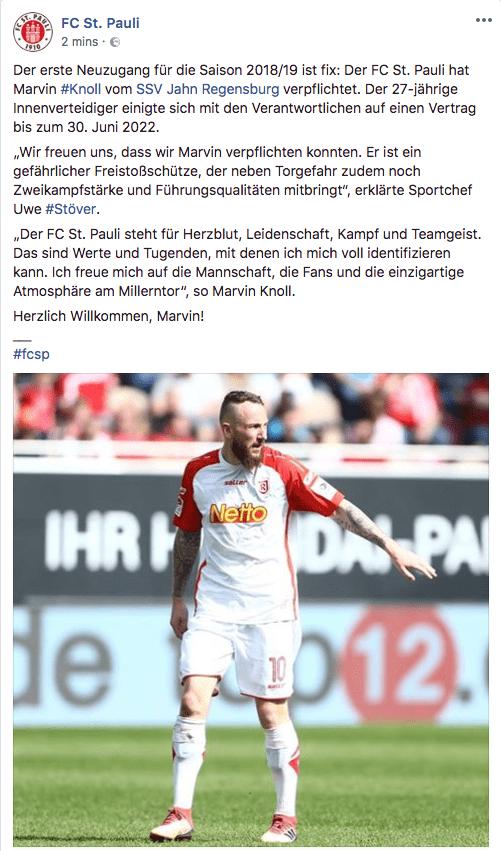 Marvin Knoll Neuzugang FC St. Pauli