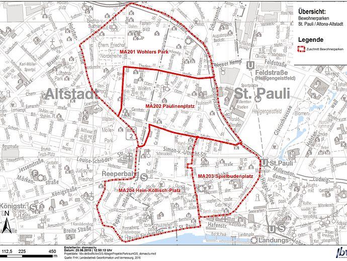 LBV Parkraum Karte St. pauli, Altona Altstadt